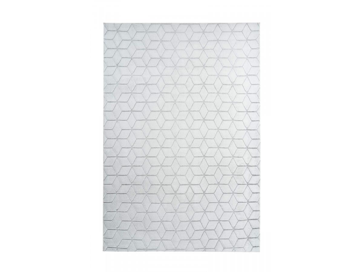 Tapis SIGMA Blanc / Gris-bleu 80cm x 150cm
