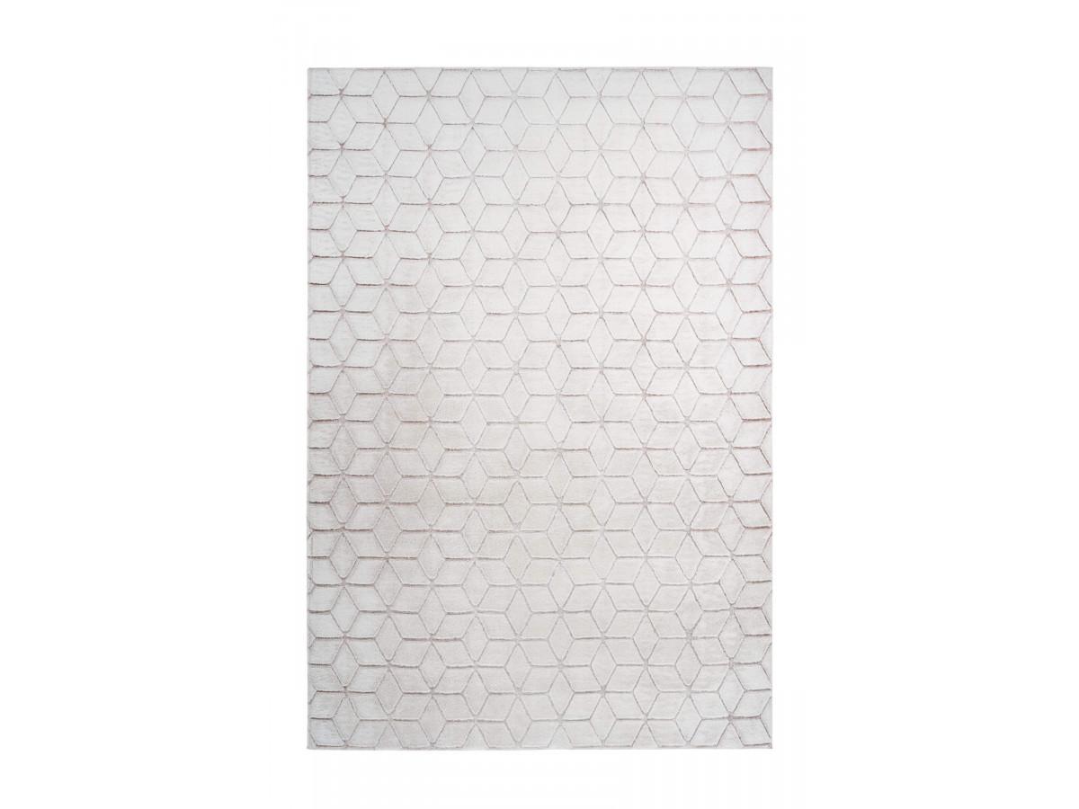Tapis SIGMA Blanc / Blanc rosé 80cm x 150cm