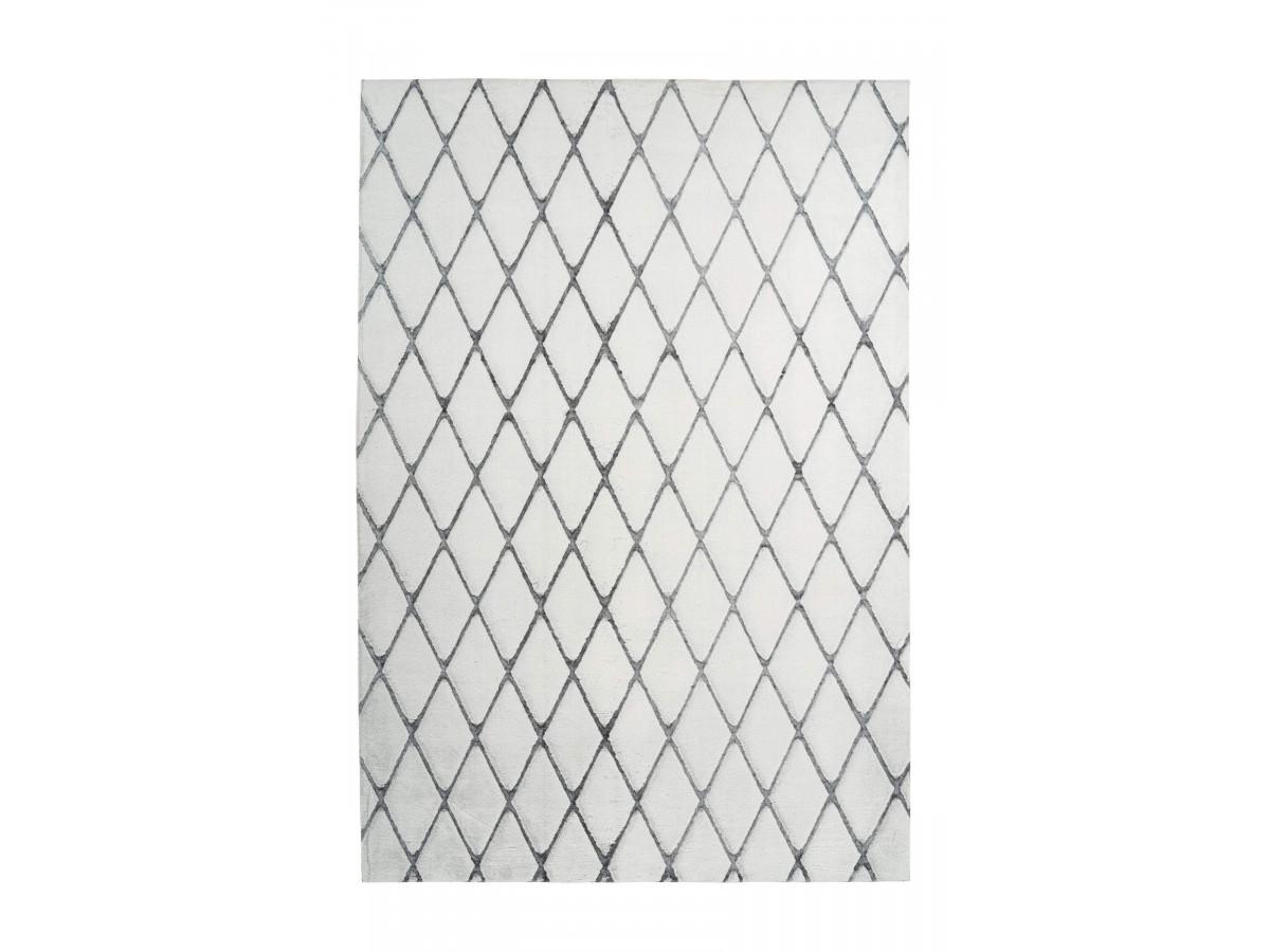 Tapis BETA Blanc / Anthracite 80cm x 250cm
