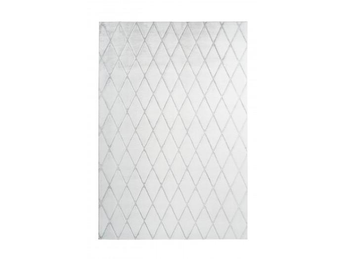 Tapis BETA Blanc / Gris-bleu 80cm x 250cm