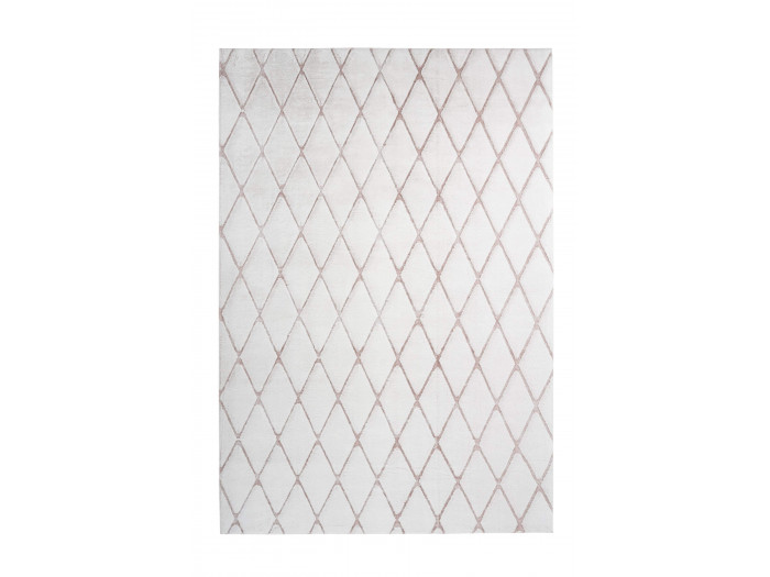 Tapis BETA Blanc / Blanc rosé 80cm x 150cm