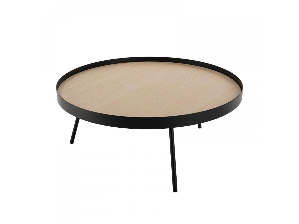 Table Basse Ronde 85x85cm Pieds Metal Jiosa Bobochic
