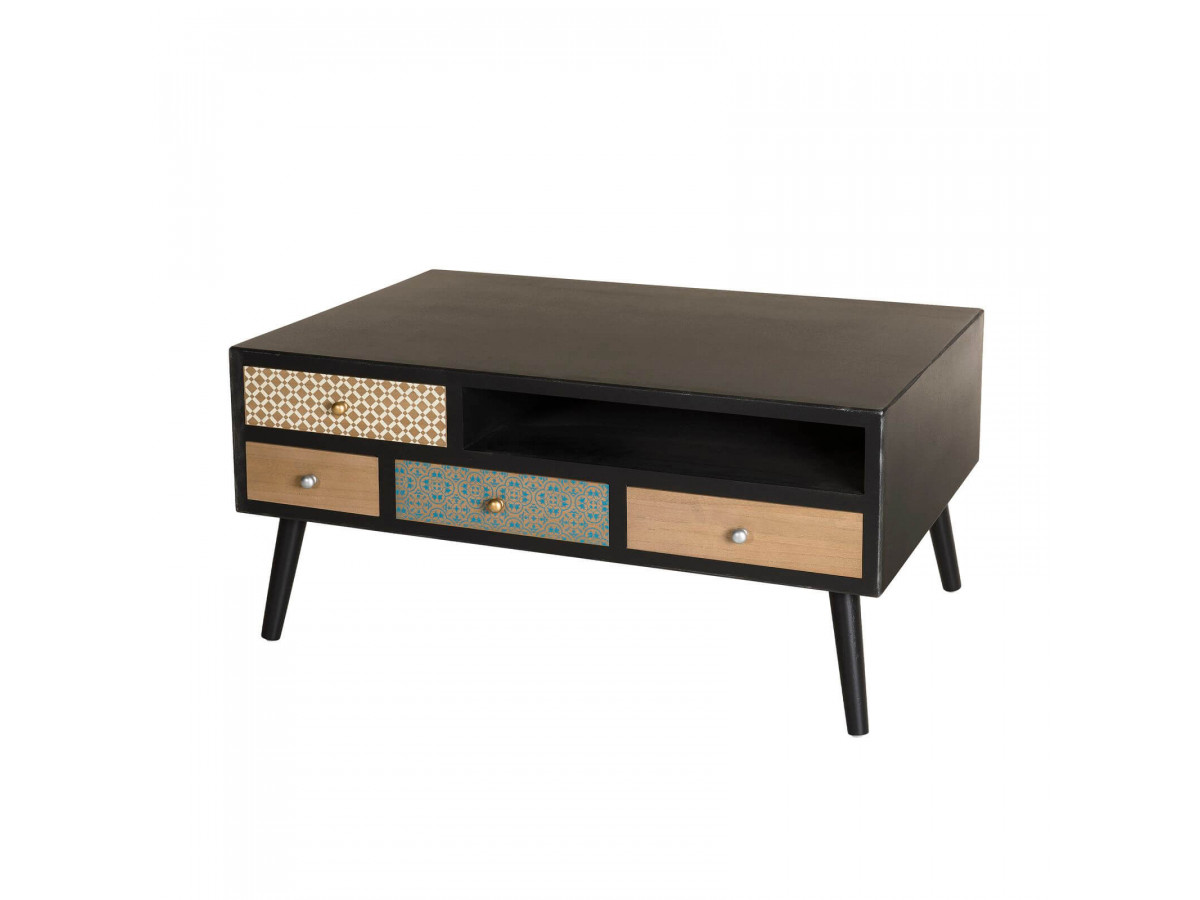 Table basse 8 tiroirs SOSOLO
