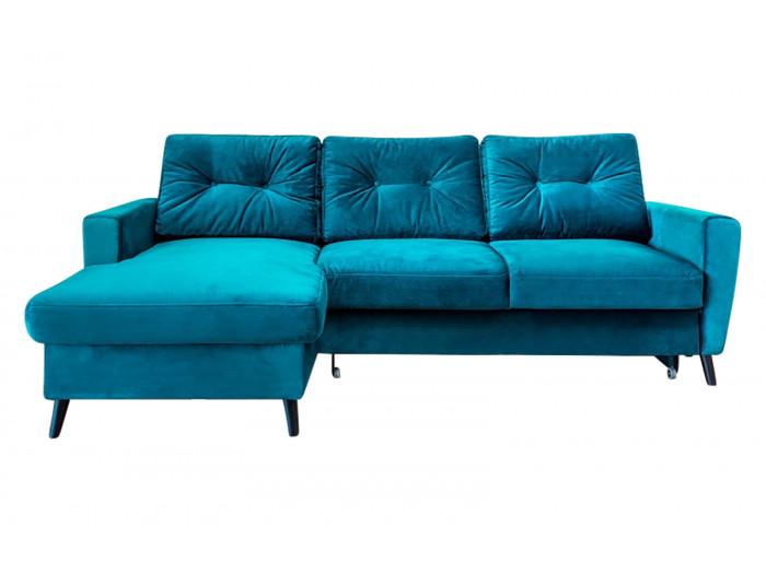 Canapé d'angle fixe Velours SCANDI