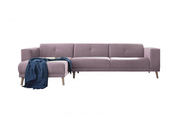 Canapé d'angle avec pouf LUNA