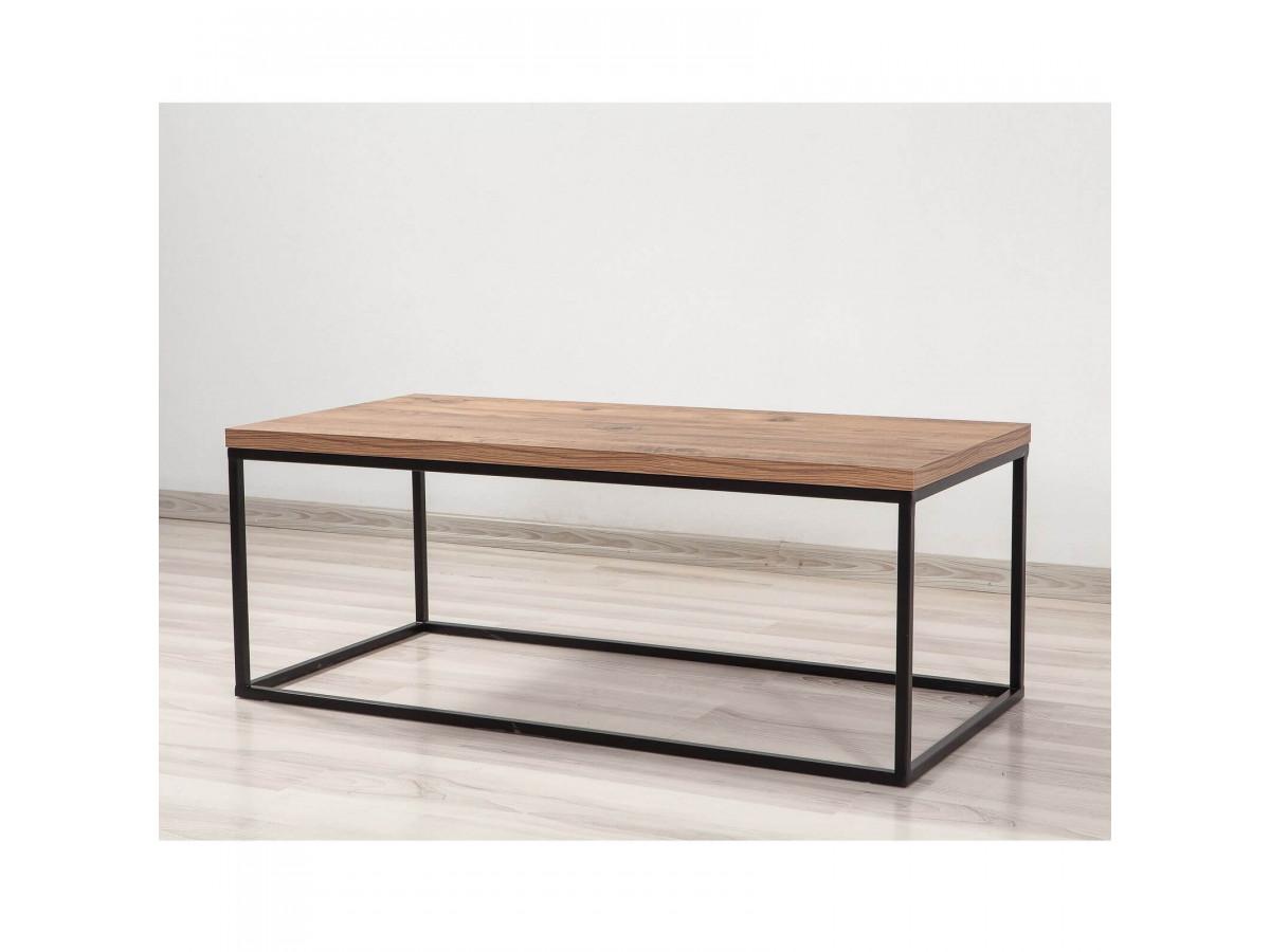 Table basse BENKA Pin Atlantique Noir