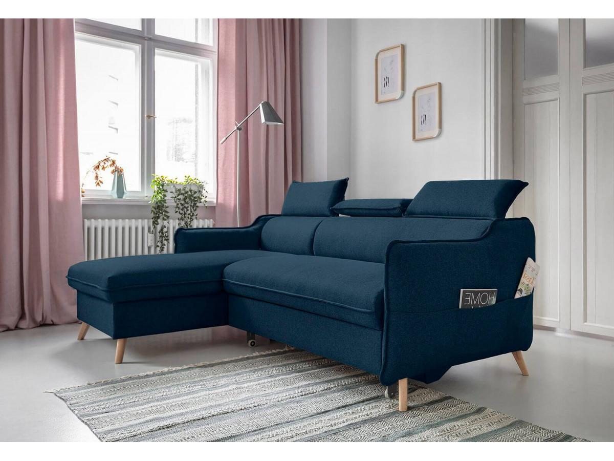 Canapé d'angle convertible coffre MARIUS