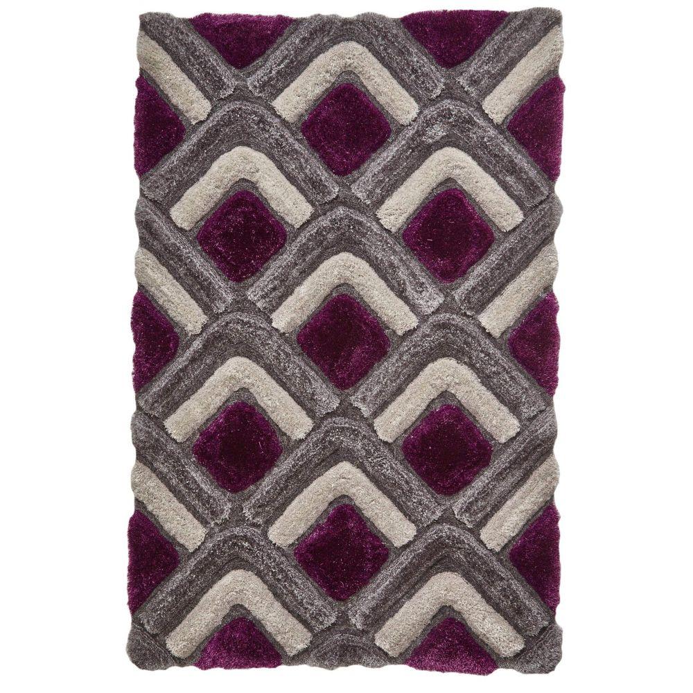 Tapis CHARIS 2 Gris / Violet 150 x 230