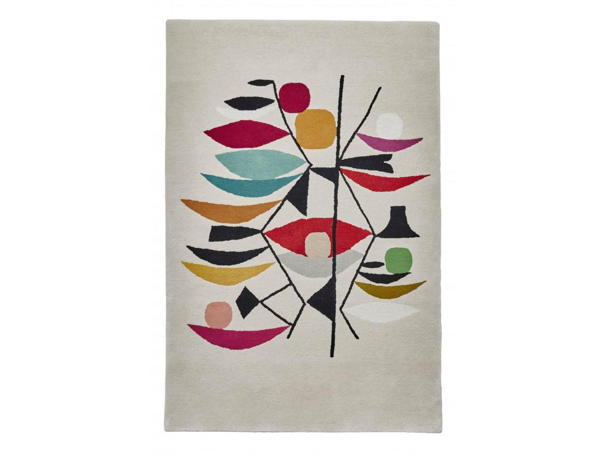 Tapis PERIG Multicolor / Ivoir / Rouge 120 x 170