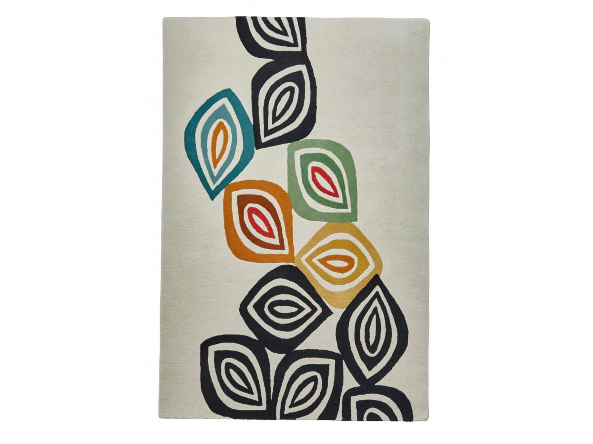 Tapis PERIG Multicolor / Crème / Noir / Jaune 150 x 230