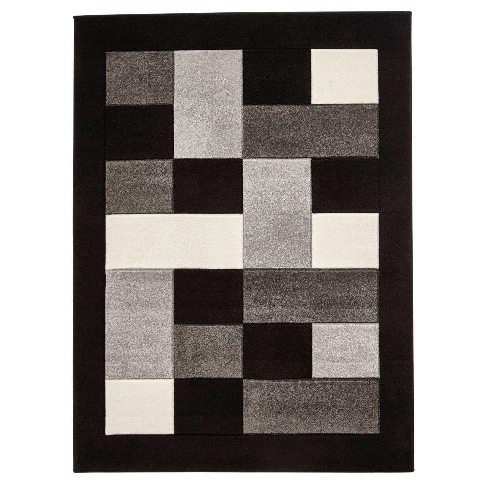 Tapis QUIM Noir / Gris 120 x 170