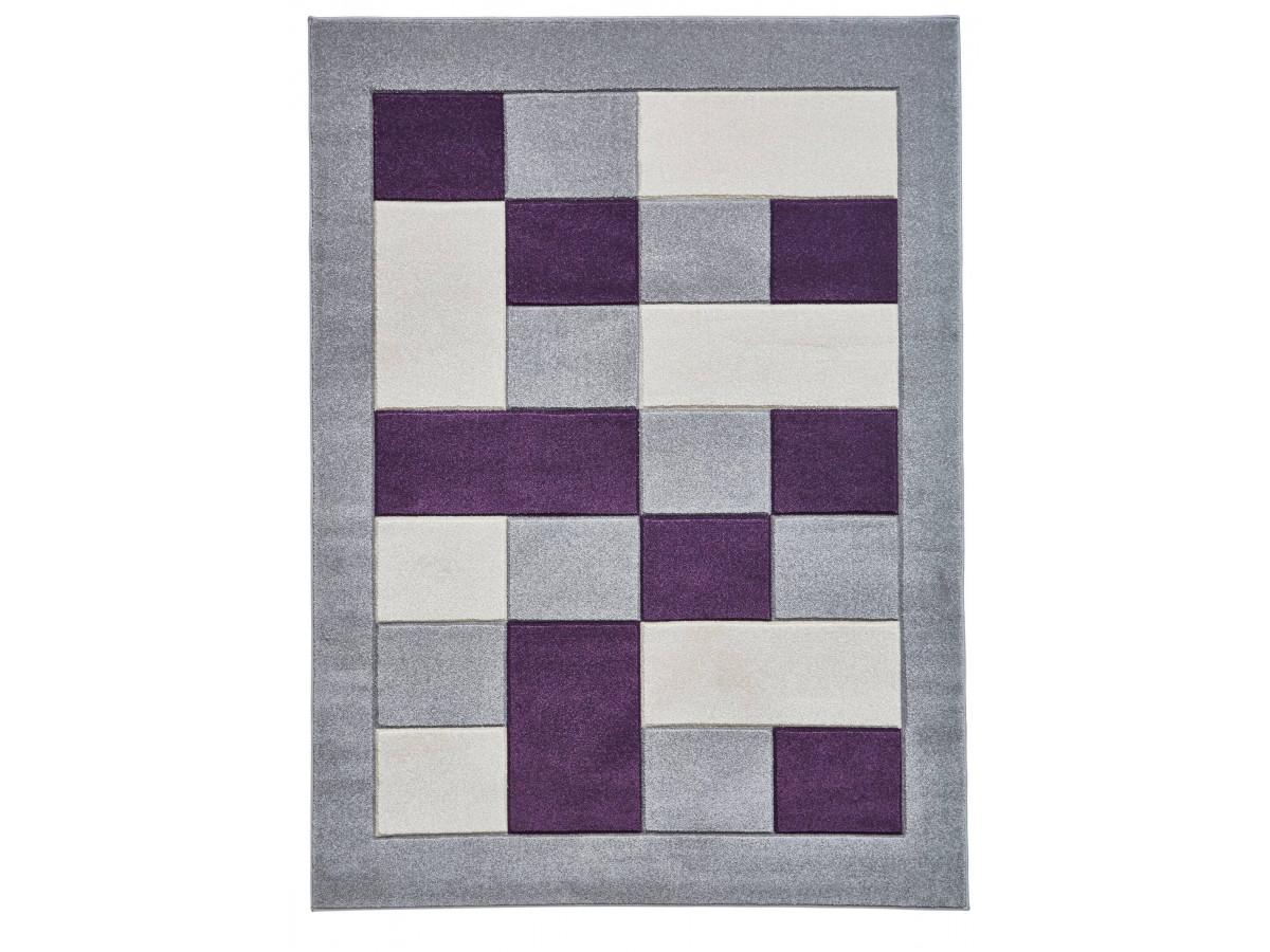 Tapis QUIM Gris / Violet 160 x 220
