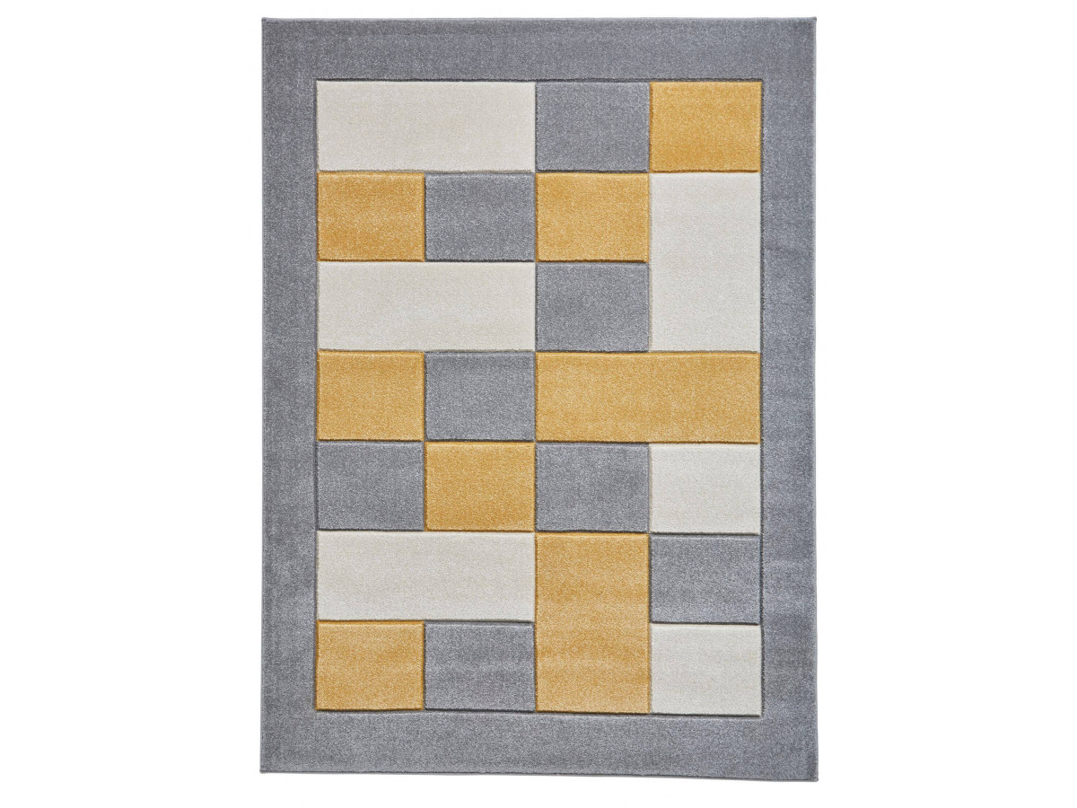 Tapis QUIM Gris / Jaune 60 x 225
