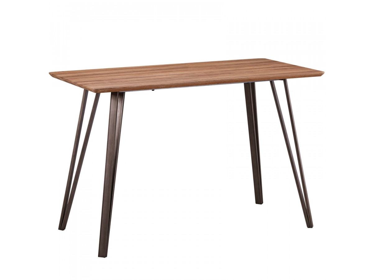 Table de bar 140cm pour 4-6 personnes BOGOTA Bois clair