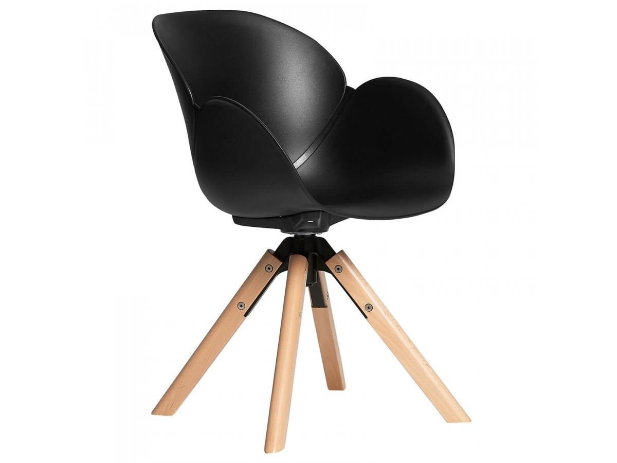 Ensemble de 4 chaises pivotantes SINDA noir