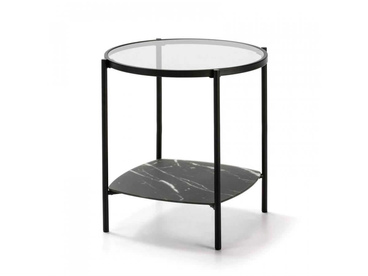Table d'appoint DORI noir/gris
