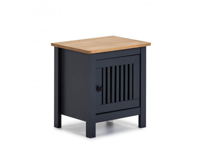 Table de chevet CAPRI Bleu et Bois clair