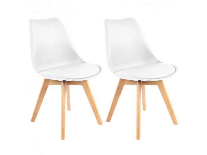 Lot de 2 chaises MIKO Blanc