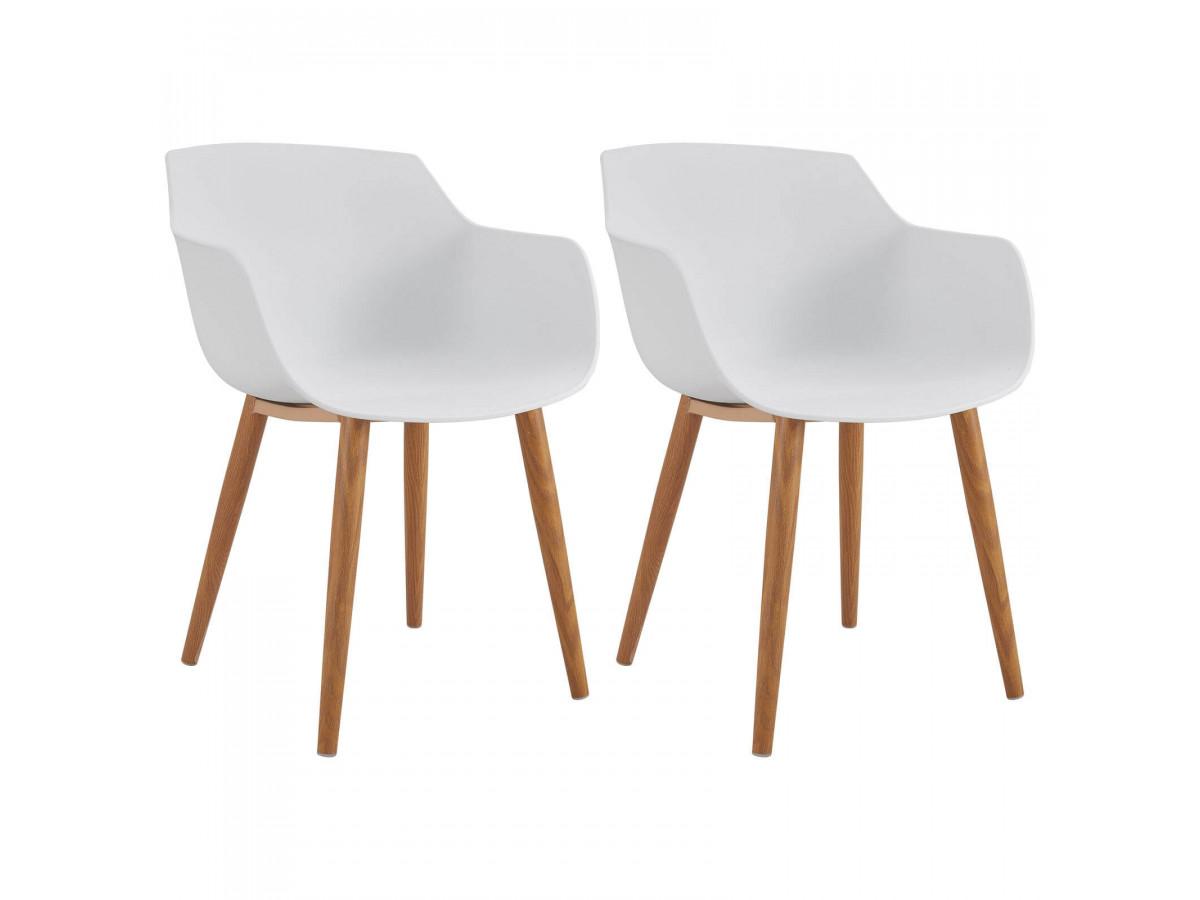 Lot de 2 chaises PRINS Blanc
