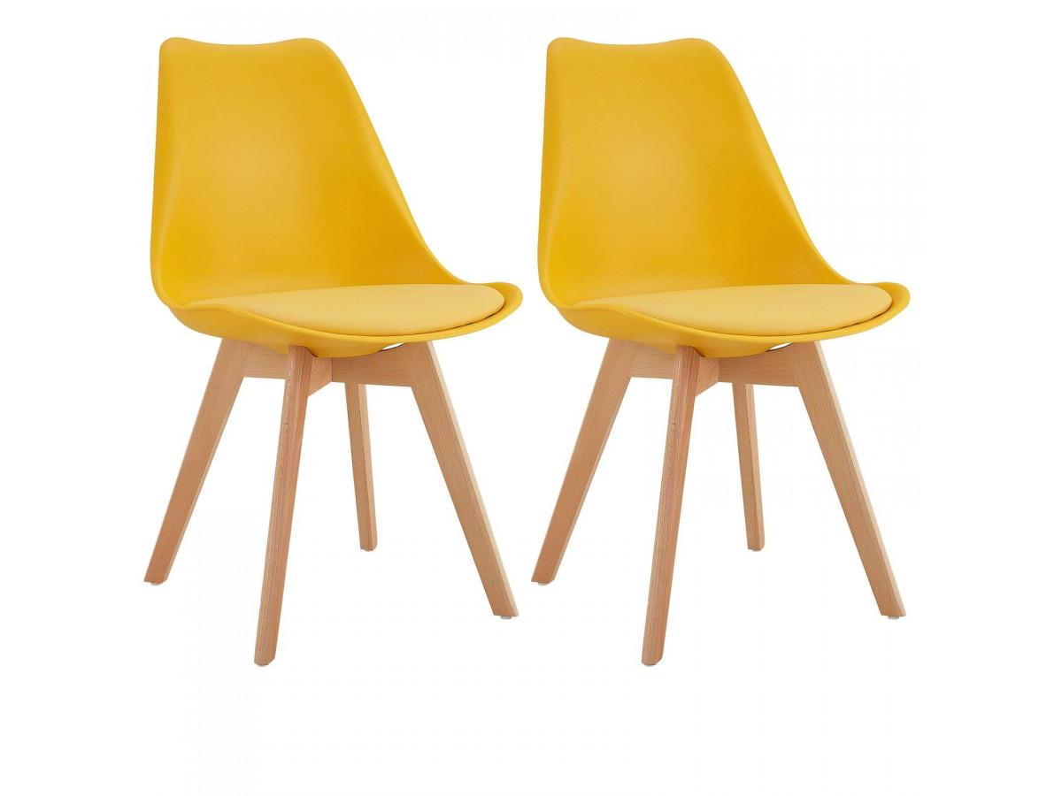 Lot de 2 chaises MIKO jaune
