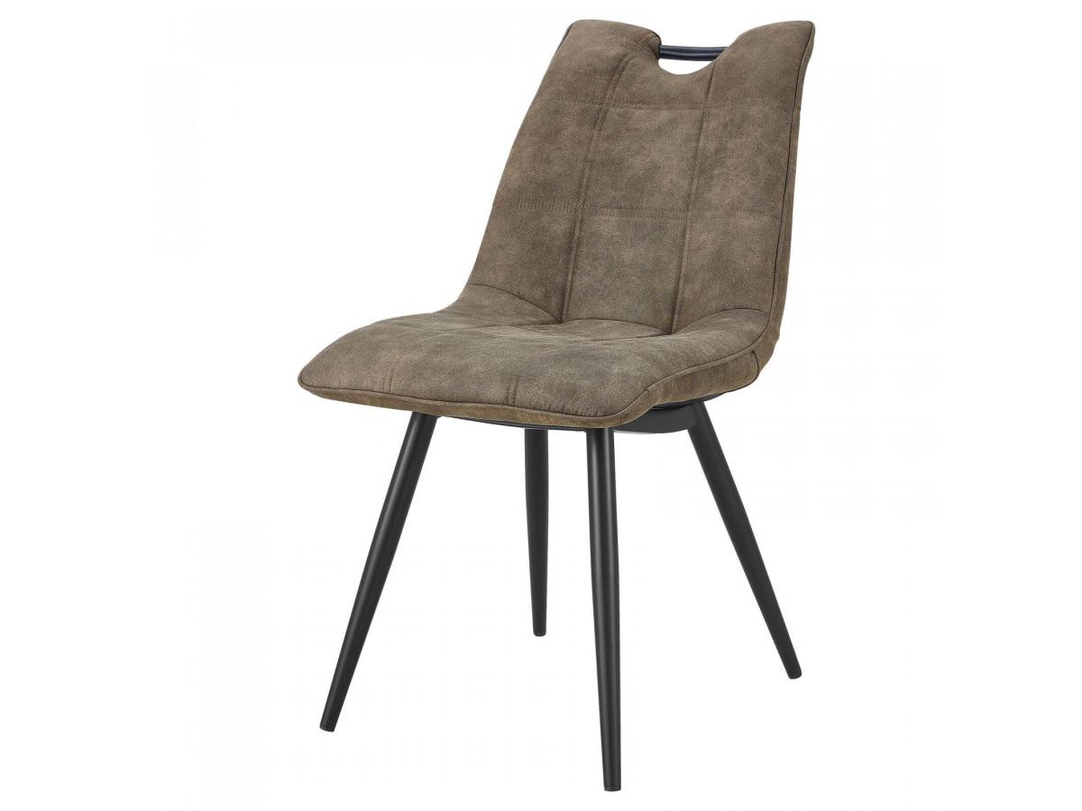 Lot de 2 chaises EILO vintage gris