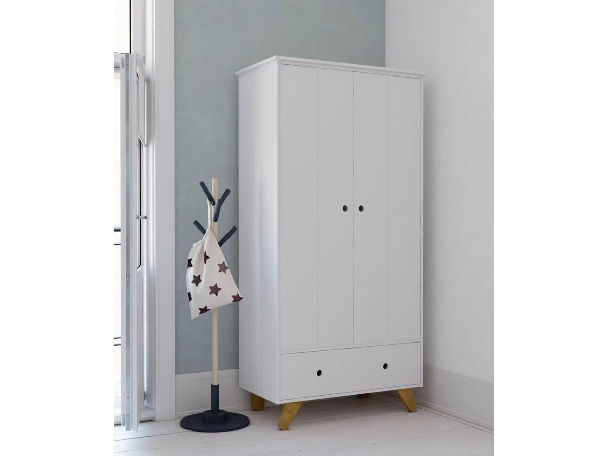 Armoire 2 portes INAPE Blanc