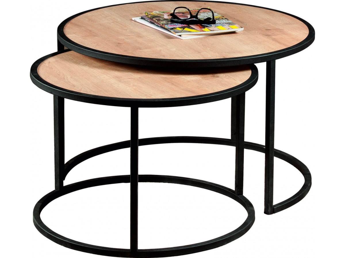 Table basse DELYO Chêne Noir