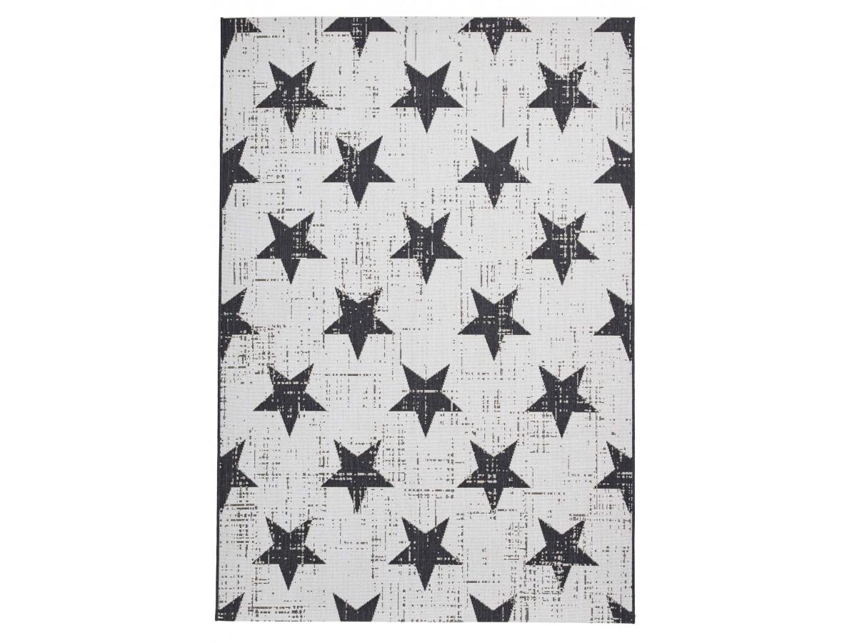 Tapis MOSA Blanc / Noir 120 x 170