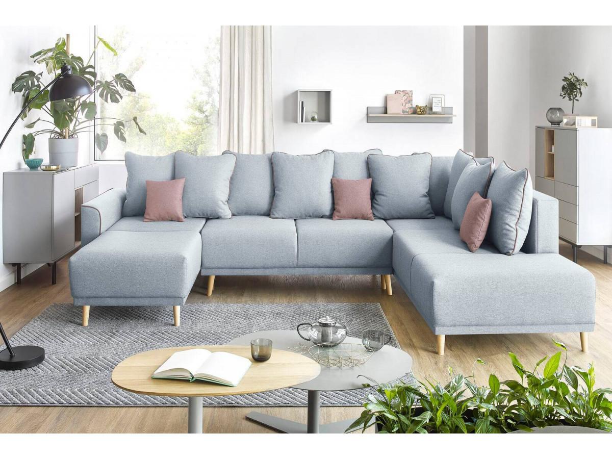 Canapé d'angle panoramique XXL MOLA