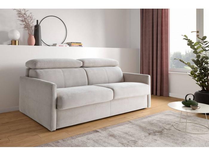 Canapé droit convertible Haute Couture COMPATTO Rapido avec têtières réglables