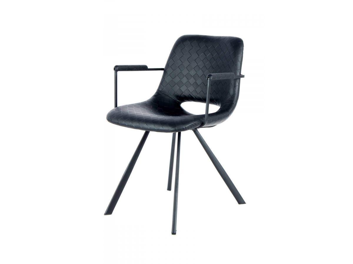 Lot de 2 chaises WENDY Noir