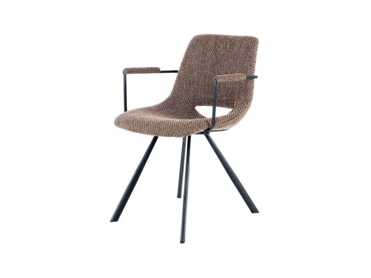 Lot de 2 chaises WENDY Marron