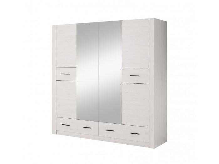 Armoire L200 cm ANDERSEN Blanc
