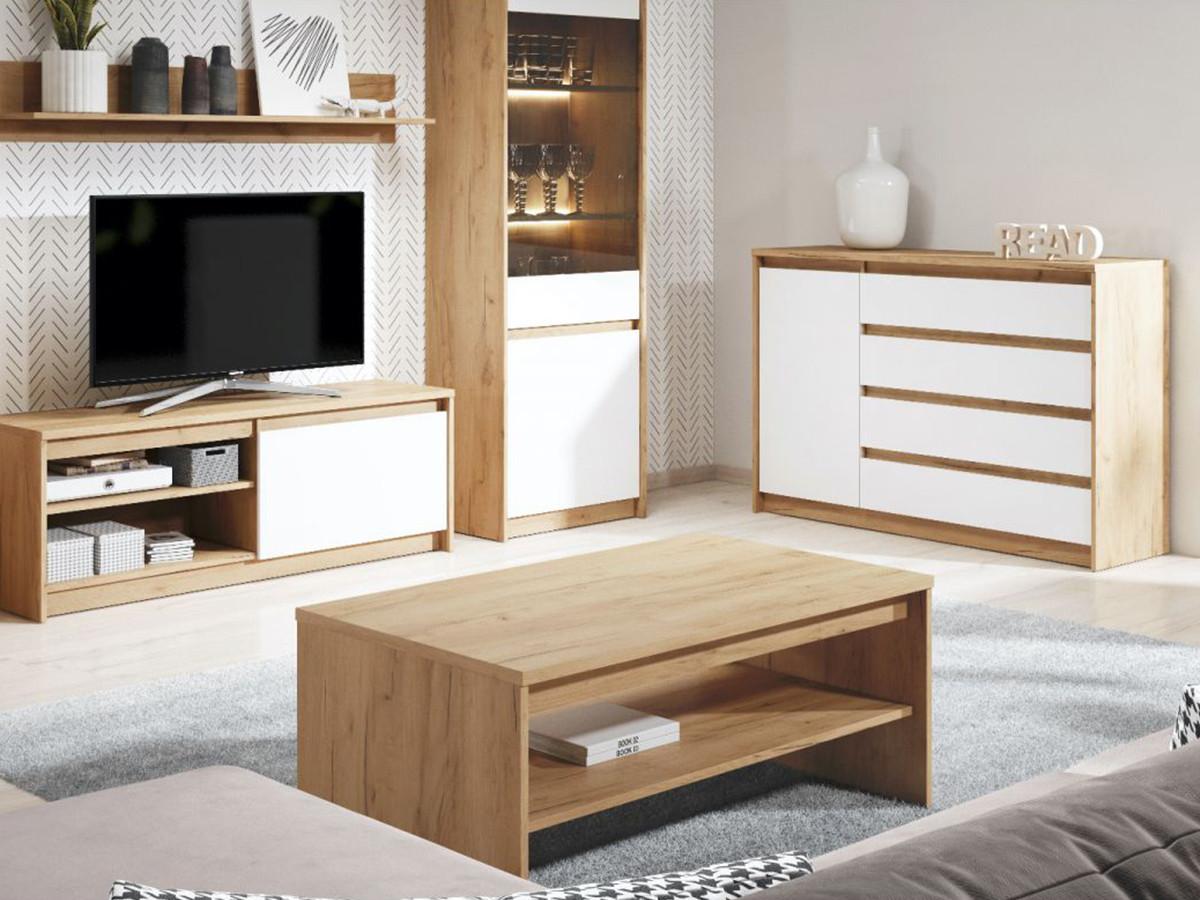Table basse XELYO Blanc et Chêne