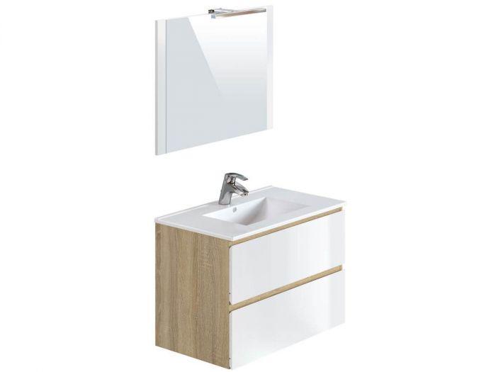 Ensemble de salle de bain 80 cm LUANA avec colonne