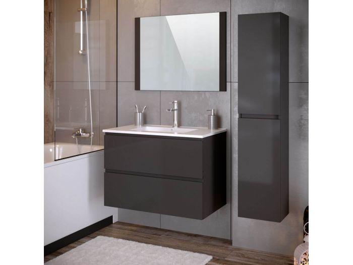 Ensemble salle de bain 80 cm ALANI avec colonne