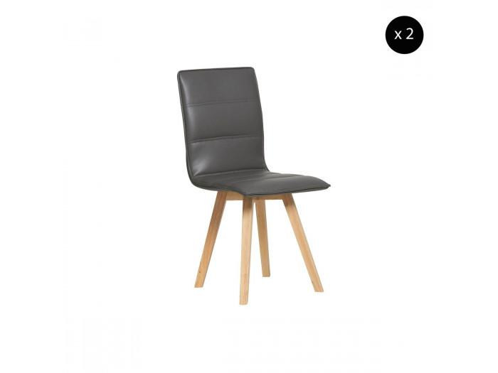 Ensemble de 2 chaises SINIO Gris