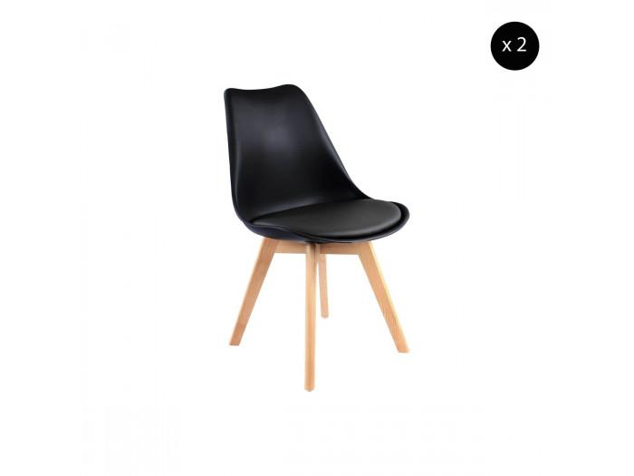 Lot de 2 chaises MIKO Noir