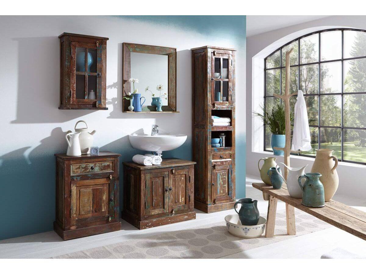 Ensemble de salle de bain CROISETTE bois multicolore