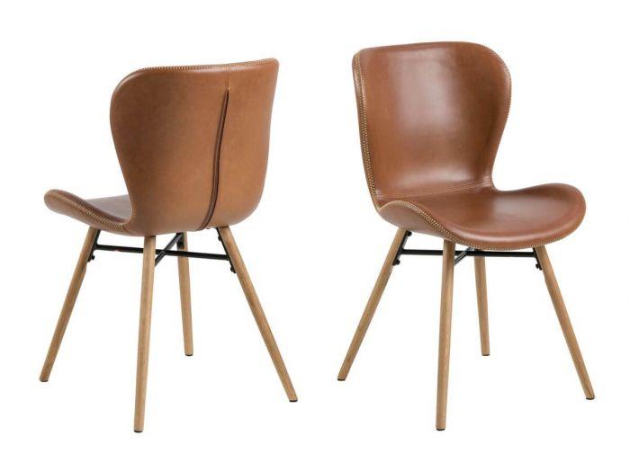 Lot de deux chaises simili BALA