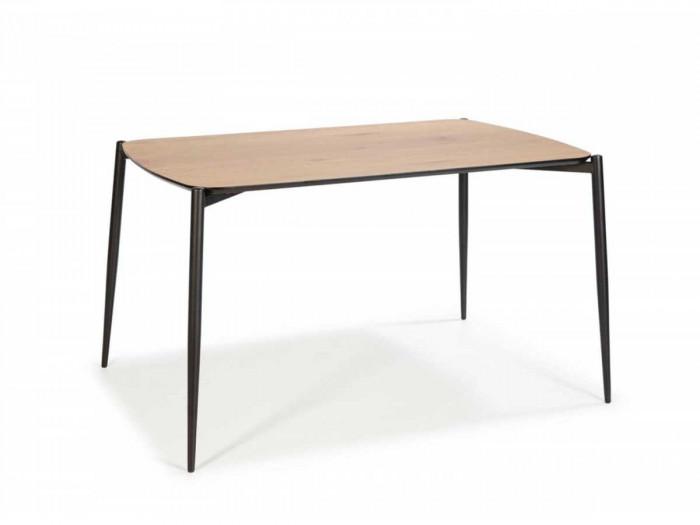 Table 120 cm NORI Couleur Bois clair et Pieds métal