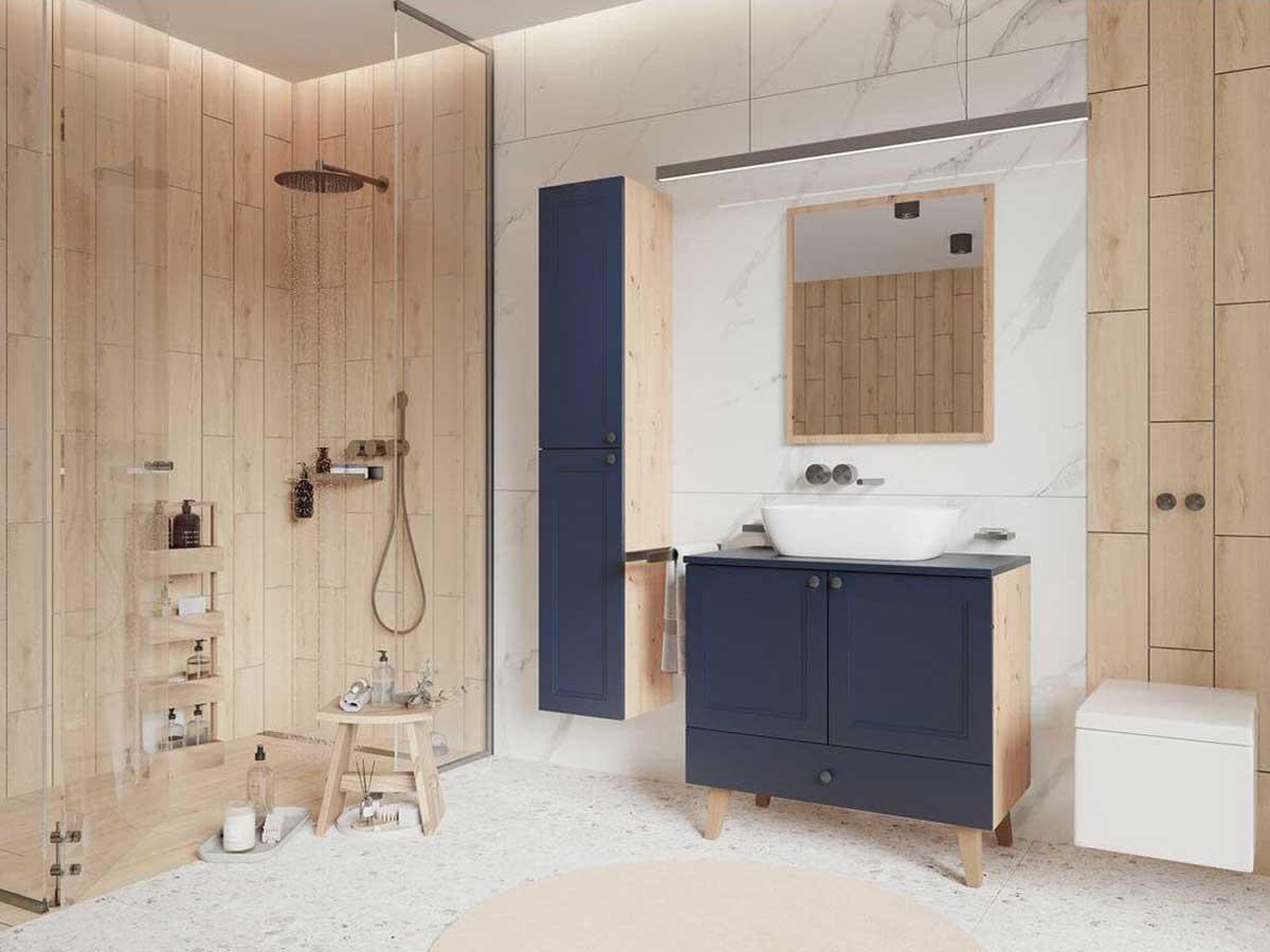 Ensemble de salle de bain 60 cm AZURA et colonne