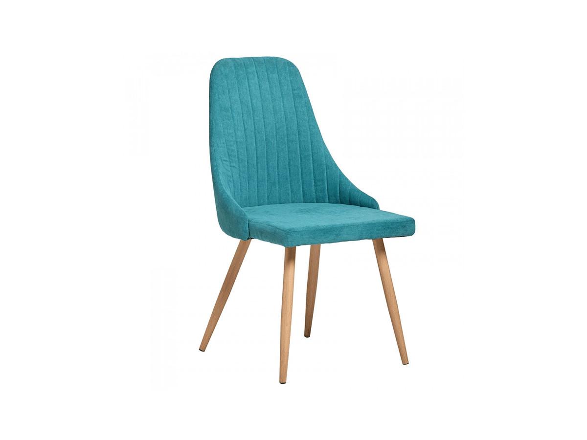 Ensemble de 2 chaises NITO Turquoise et Bois clair