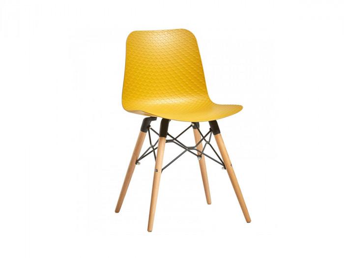 Ensemble de 4 chaises HITA Jaune