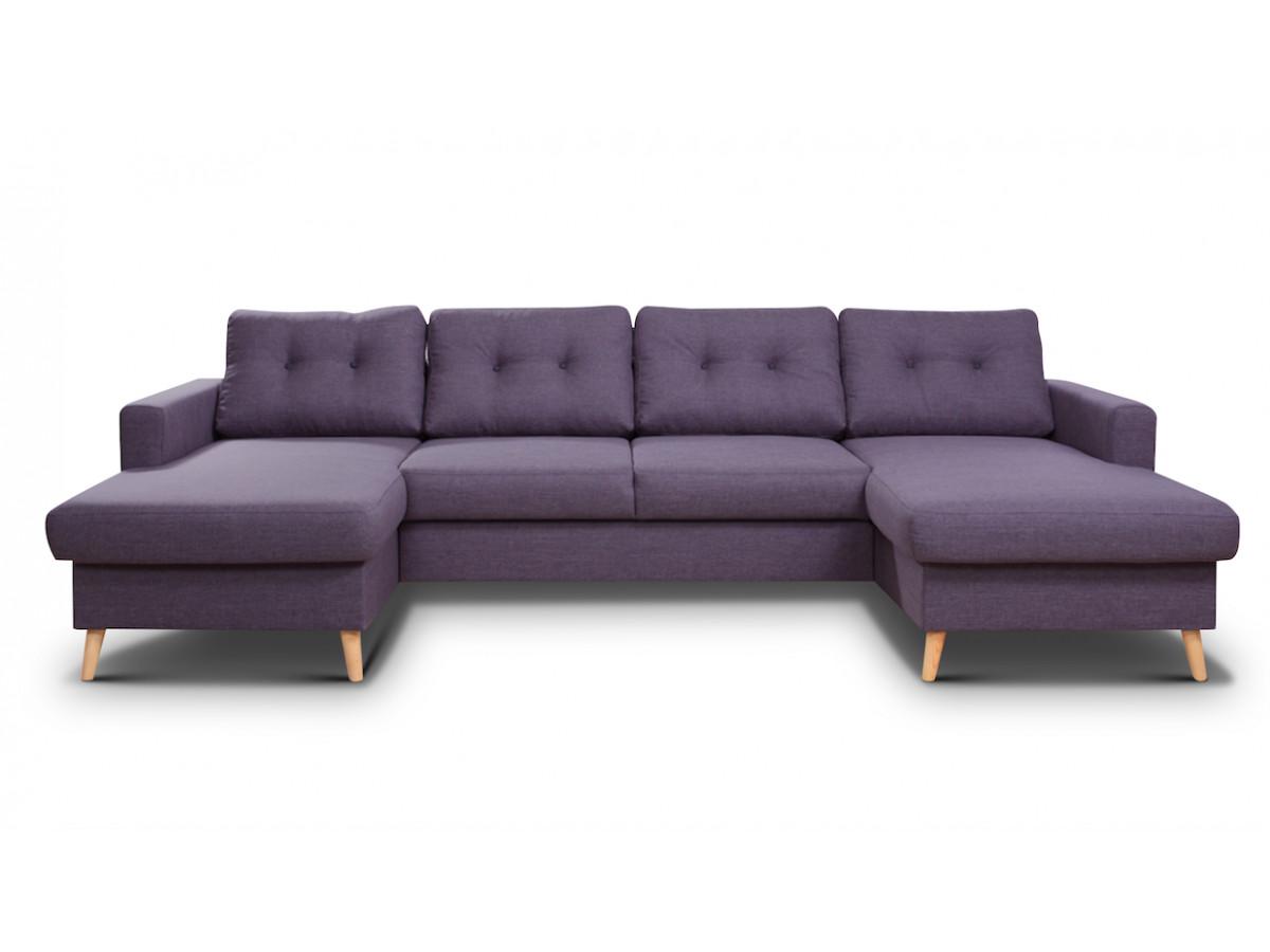Canapé double meridienne SCANDI fixe