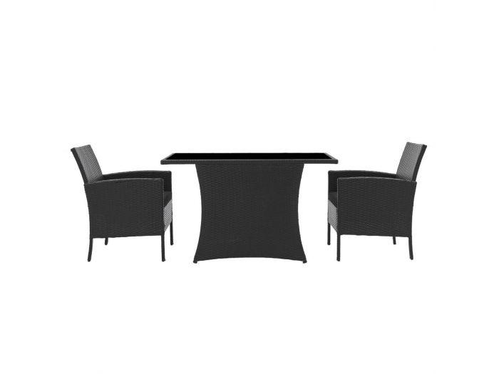 Ensemble table et 2 fauteuils MANHATTAN