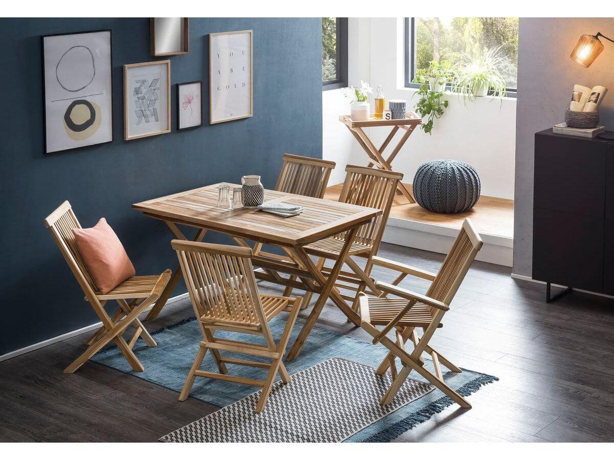 Table de jardin ETREDA bois clair naturel