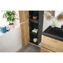 Colonne de salle de bain KALEO chêne et noir