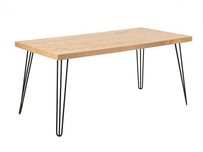 Table à manger 160 cm MAIDE placage frêne